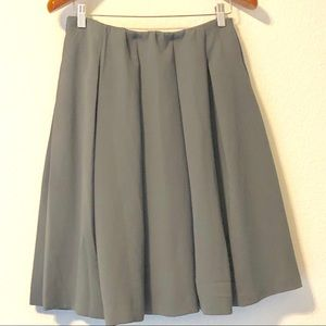 Full swirl taupe crepe skirt medium weight elastic